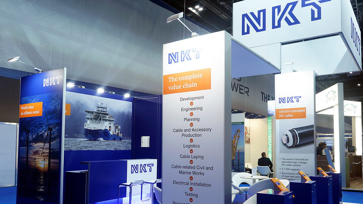 Messestand NKT OffshoreWindEnergy 4